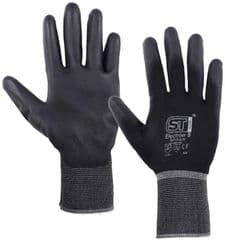 ST 28771  Glove, Pu Coated, Nylon, Black, Small